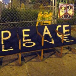 Sit down and think on Peace and Love