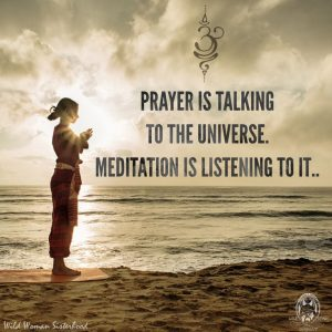 Mindfulness meditation to promote mind body connection and connection to the greater universe.