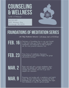 Meditation event by counseling and wellness center of pittsburgh