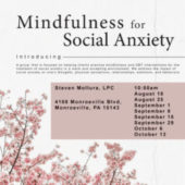 Mindfulness for Social Anxiety, A Skills Group